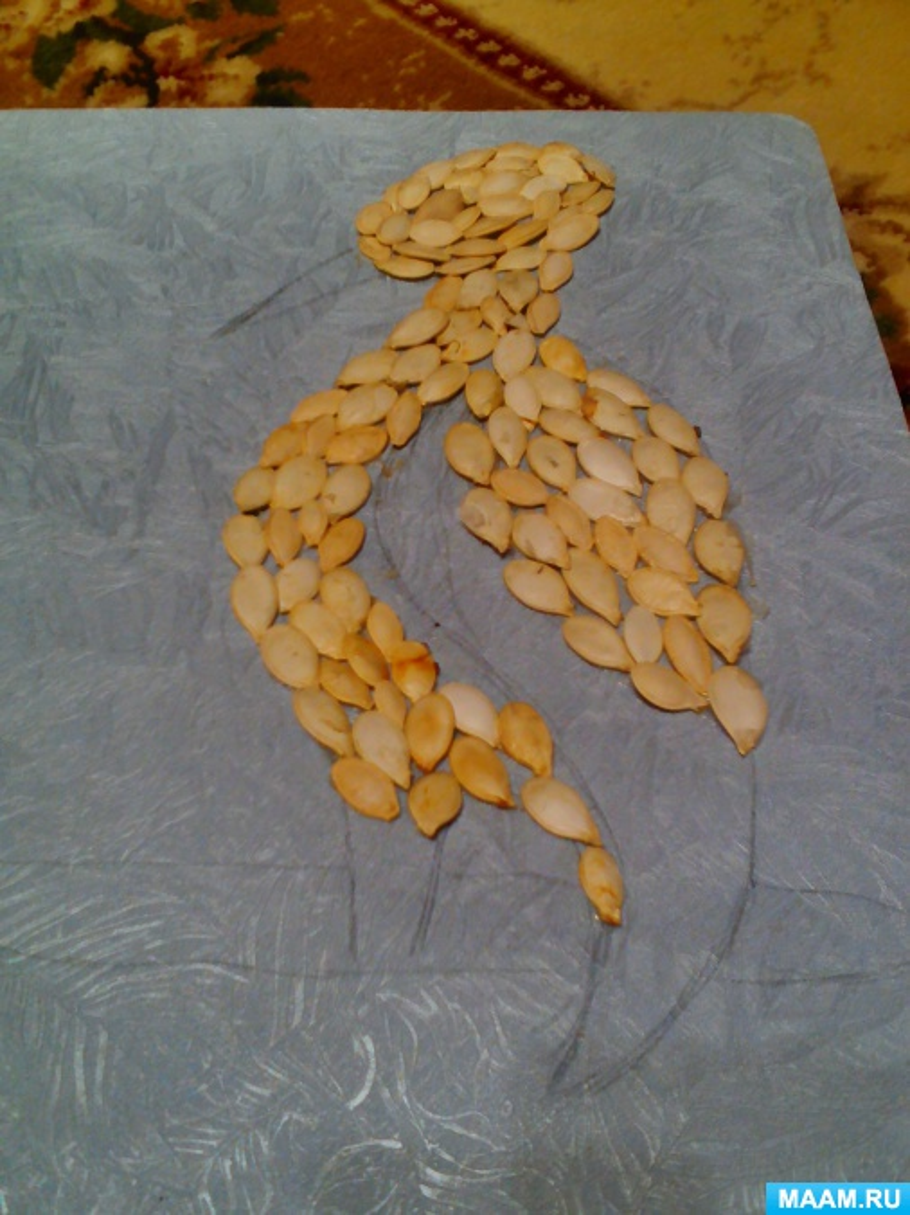 Поделка аист в гнезде из природного материала