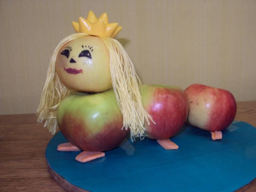 Поделка из свежего яблока 907
