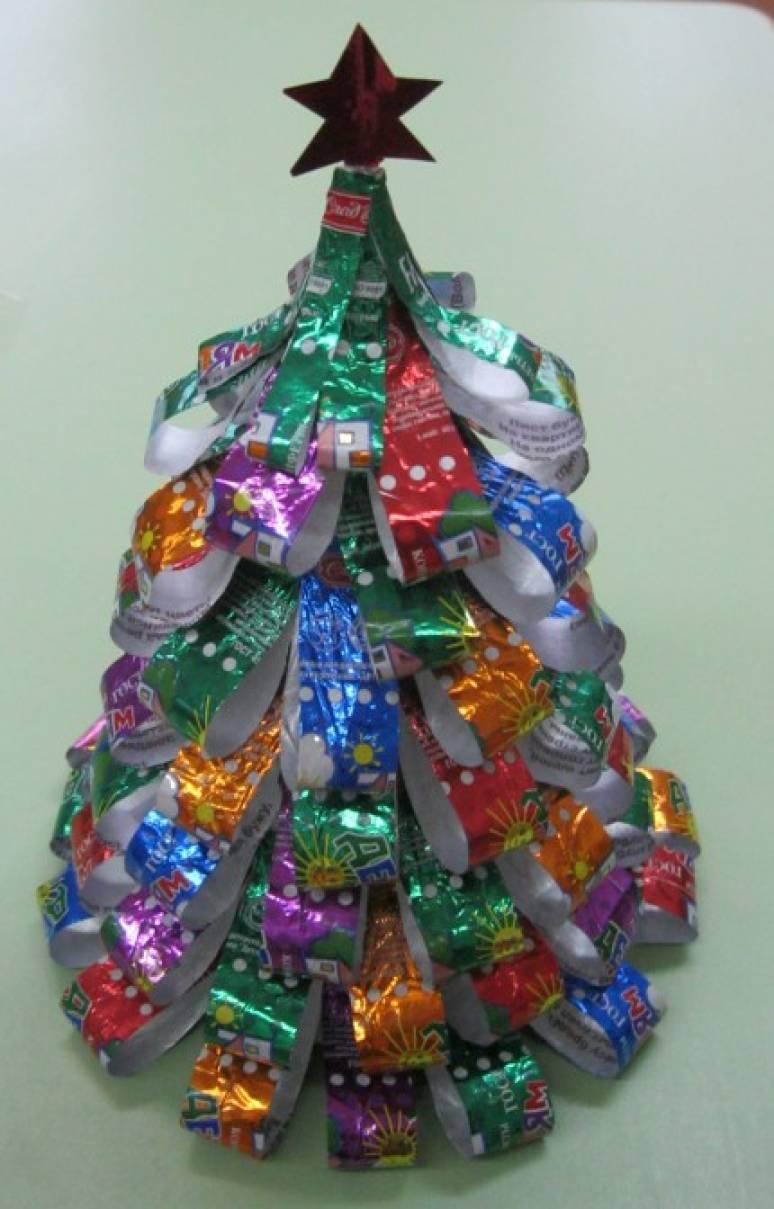 Мастер-класс «Новогодняя ёлочка из бросового материала»