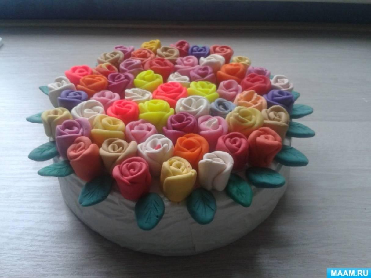 Как сделать поделку торт из пластилина 15