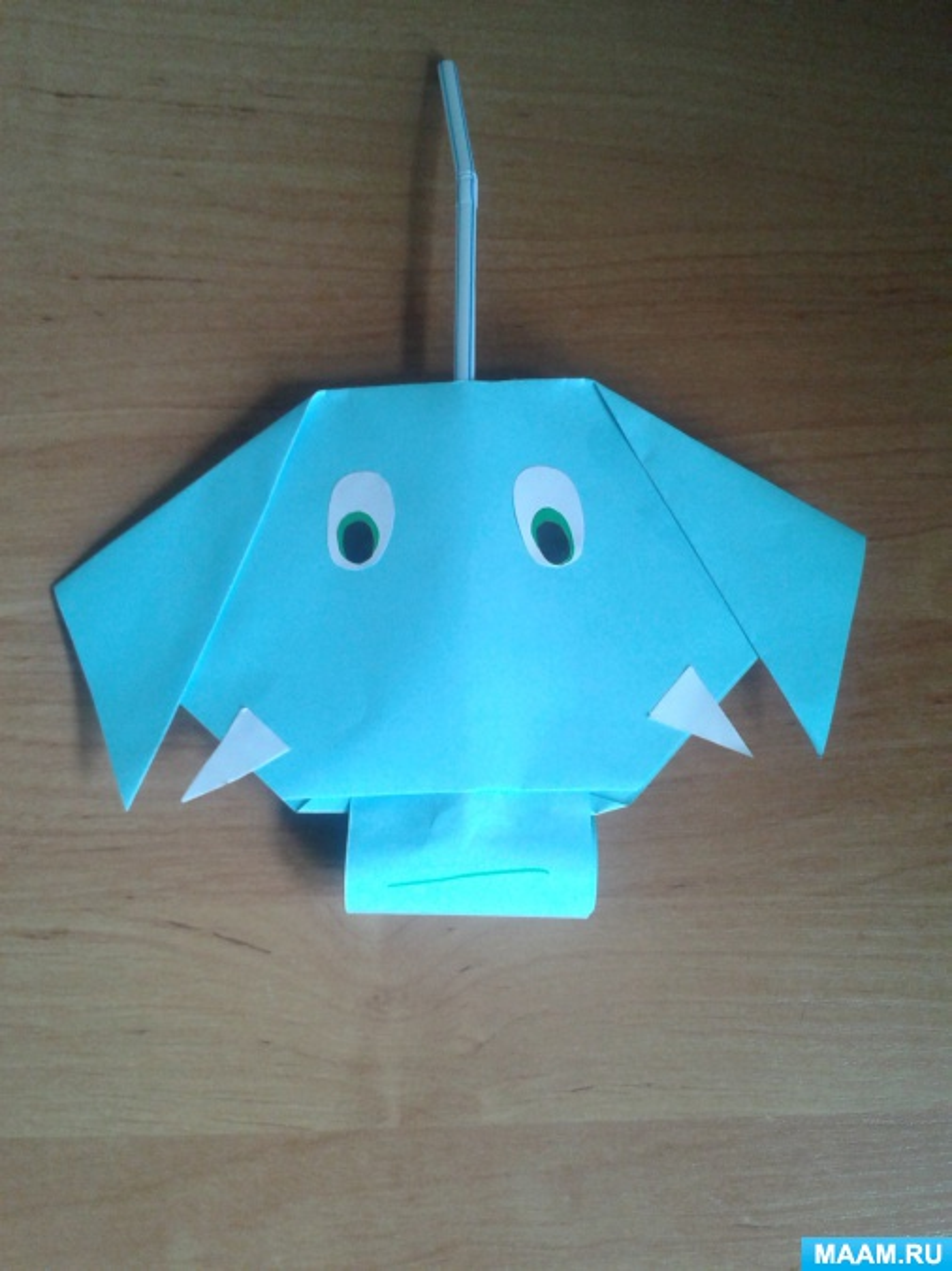 Динамичная игрушка-Слоник. Оригами. Мастер-класс
