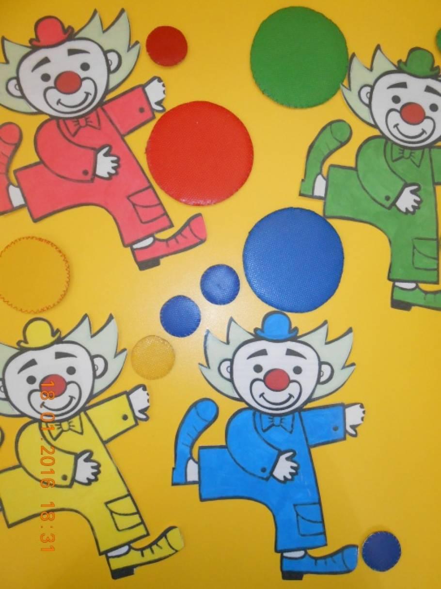 Дидактическая игра «Клоуны»