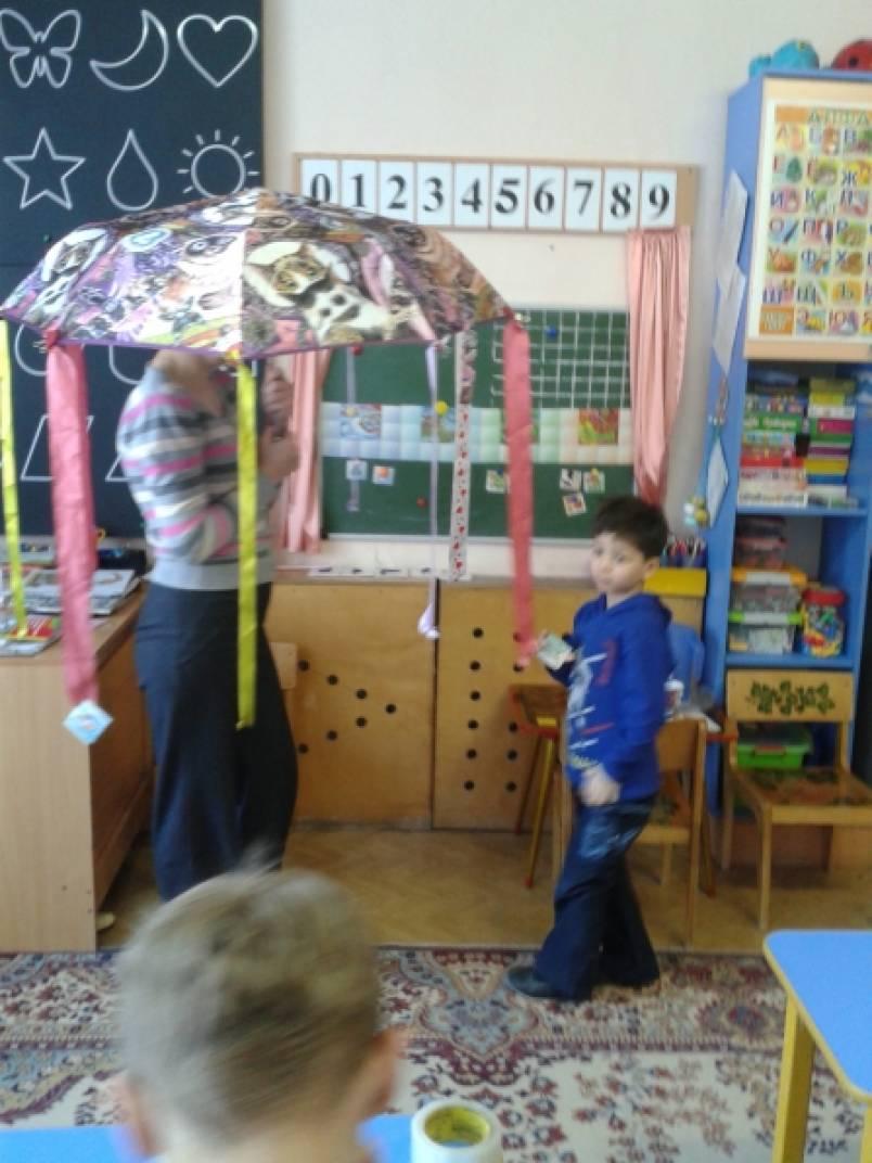 Дидактическая игра для детей с ЗПР «Зонтик, зонтик заводной»
