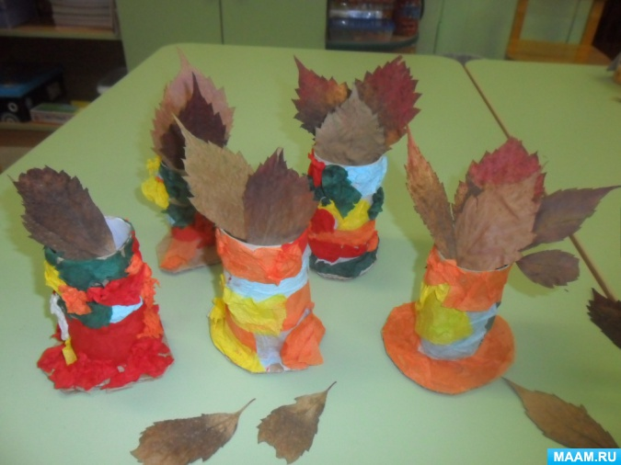 Детский мастер-класс «Осенняя ваза»