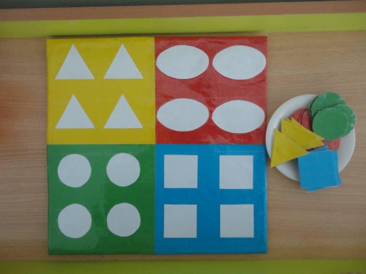 Дидактическая игра своими руками для детей раннего возраста «Цвет, форма»