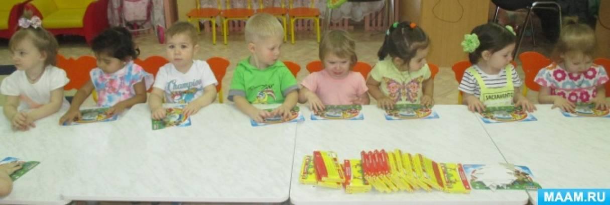 Фотоотчет об образовательной ситуации по аппликации из пластилина «Ёлочка» в группе раннего возраста