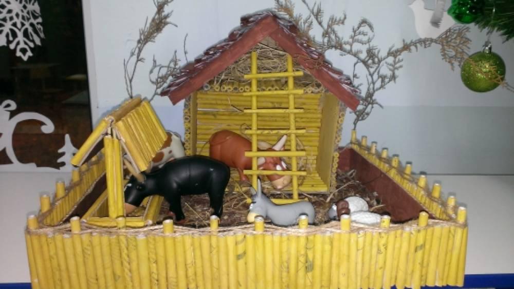 Макет деревенского двора для детского сада