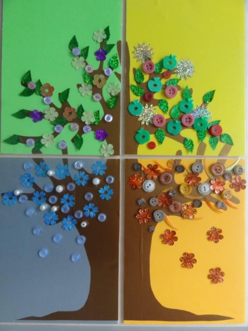 Мастер-класс «Дерево «Времена года». Воспитателям детских 80