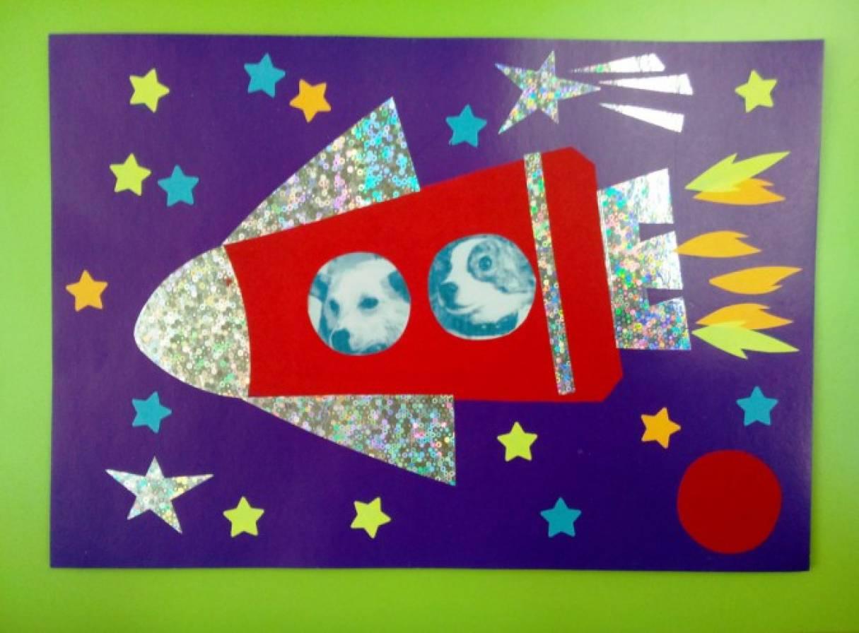 Что, открытка на день космонавтики своими руками