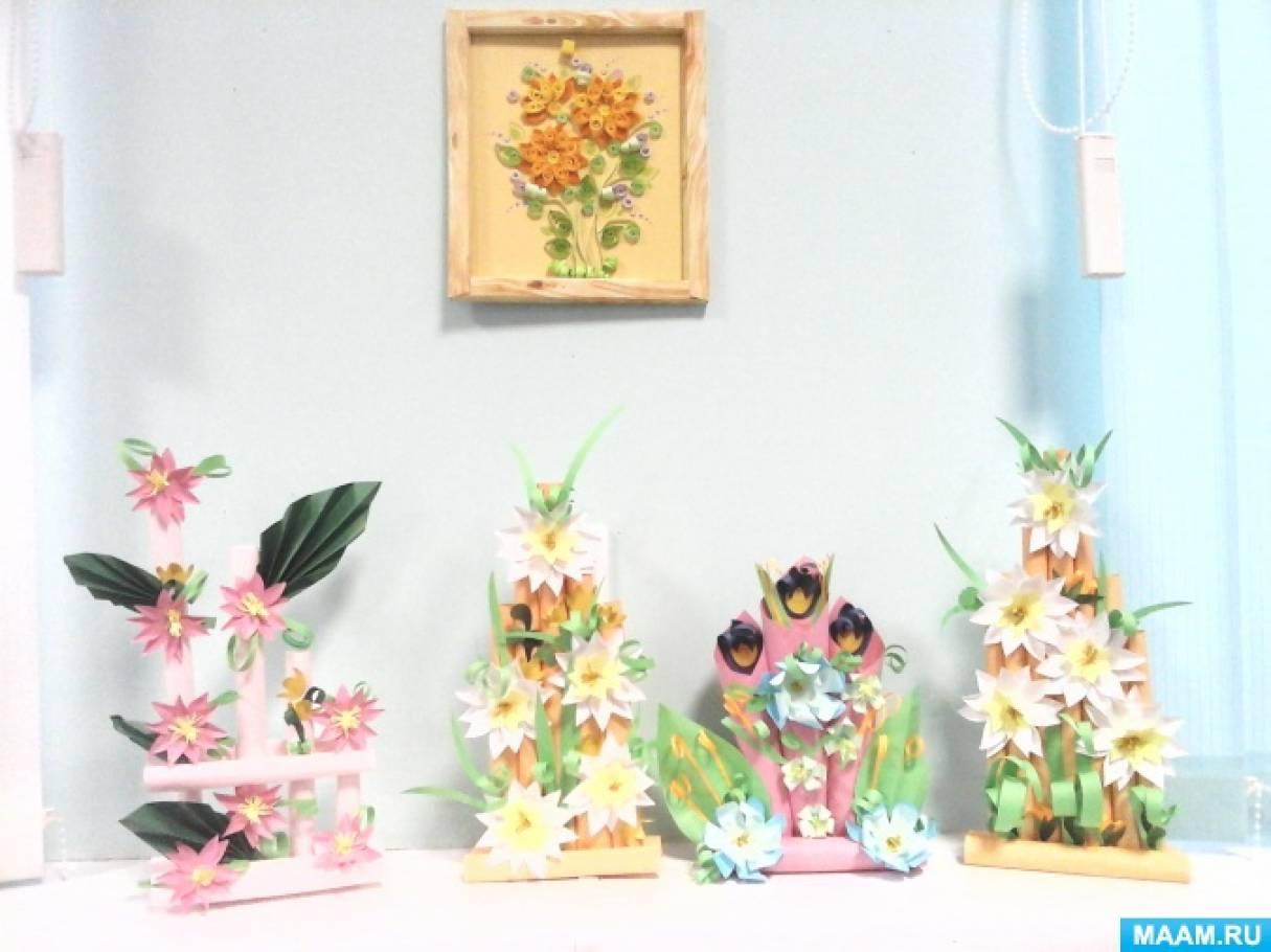 Художественная аппликация с детьми с ЗПР «Мелодия весны. Цветочные композиции»