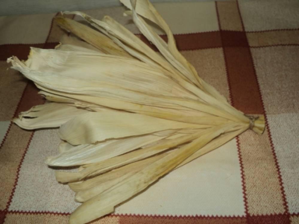 Как заготовить листья кукурузы для поделок 14