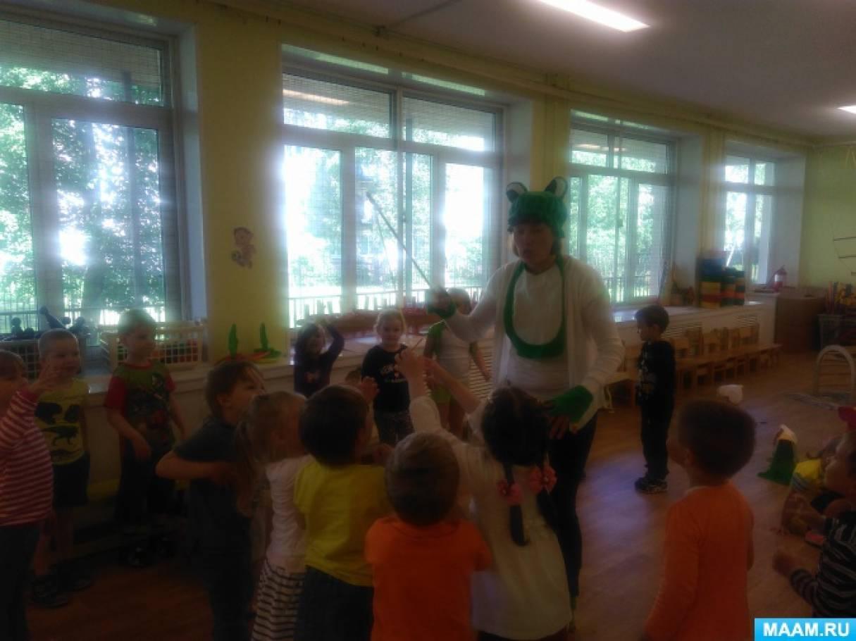 Сценарий летнего развлечения для младшего возраста «Веселые лягушата»