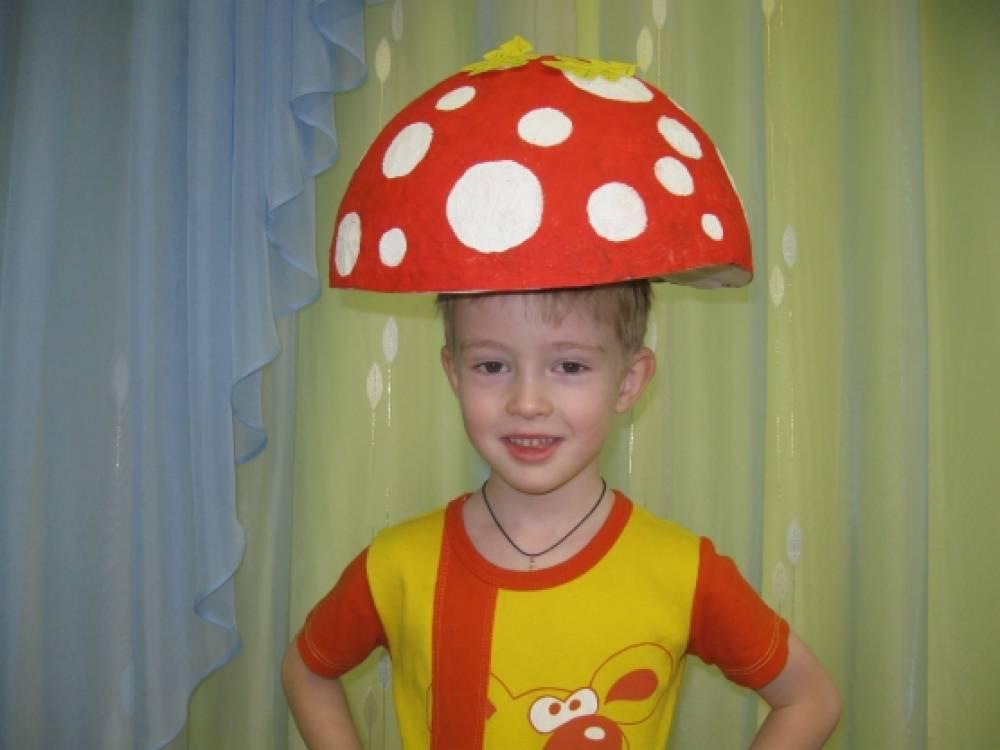 как сделать шляпу гриба из бумаги для ребенка