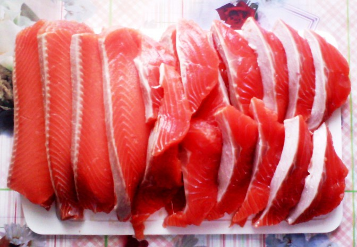 рубленые котлетки из лосося