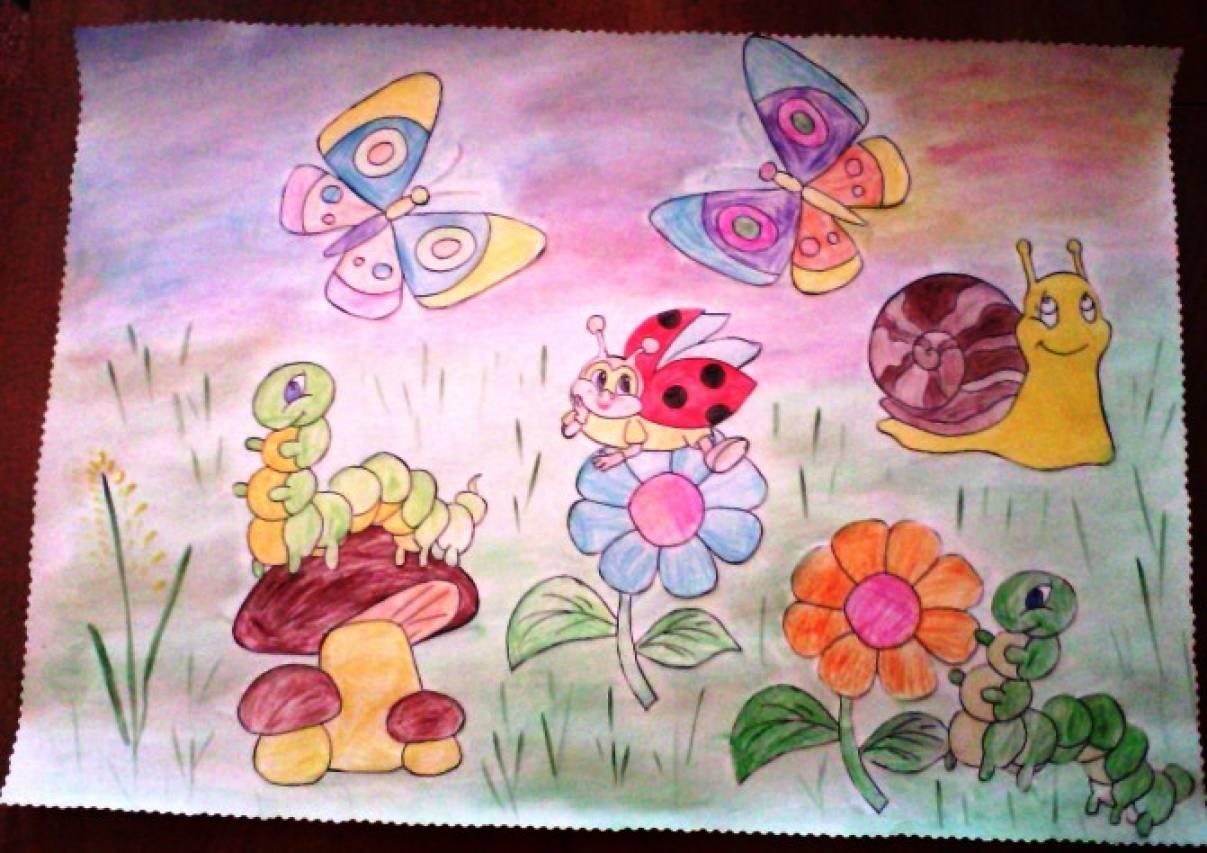 Детские рисунки на тему досвиданья лето