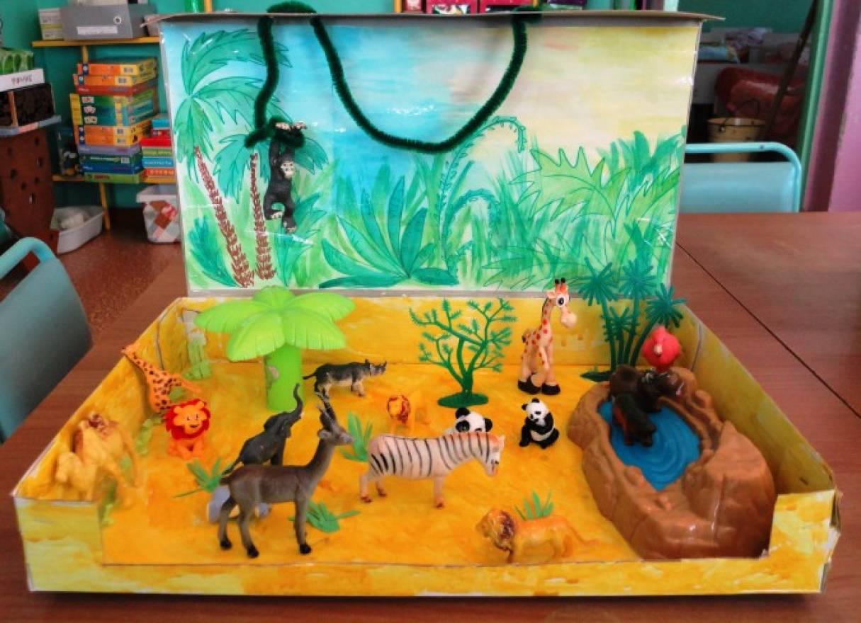 Макет животные жарких стран в детском саду