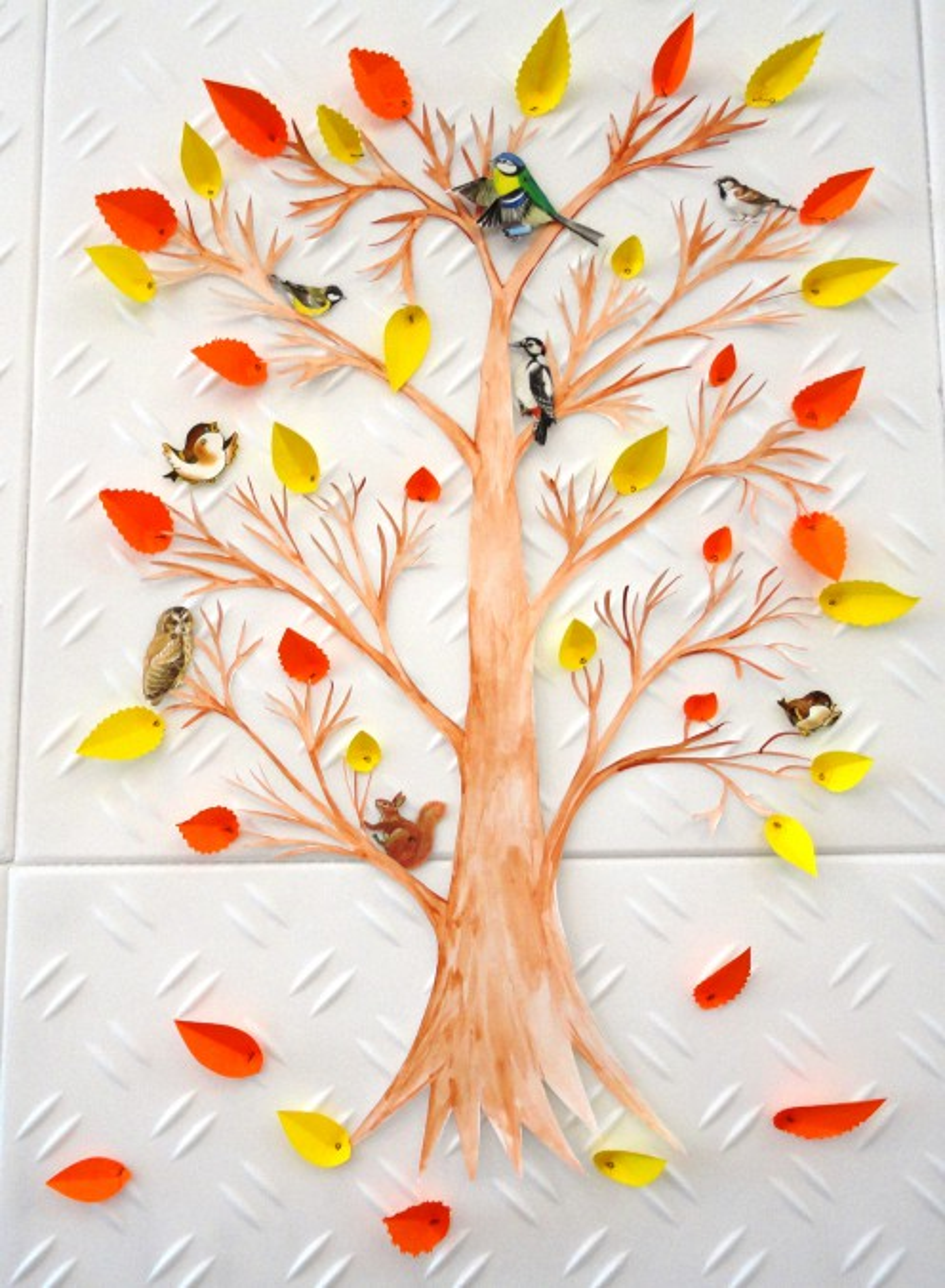 Оформление дерева в уголке природы картинке