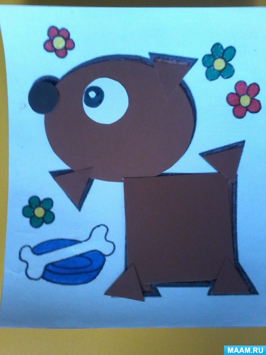 Мастер-класс по изготовлению дидактической игры «Геометрическая мозаика в картинках» для детей 3–4 лет