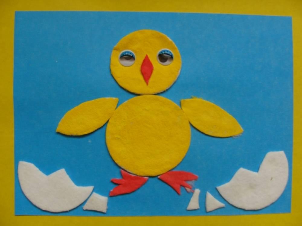 Цыпленок из дисков ватных своими руками 29