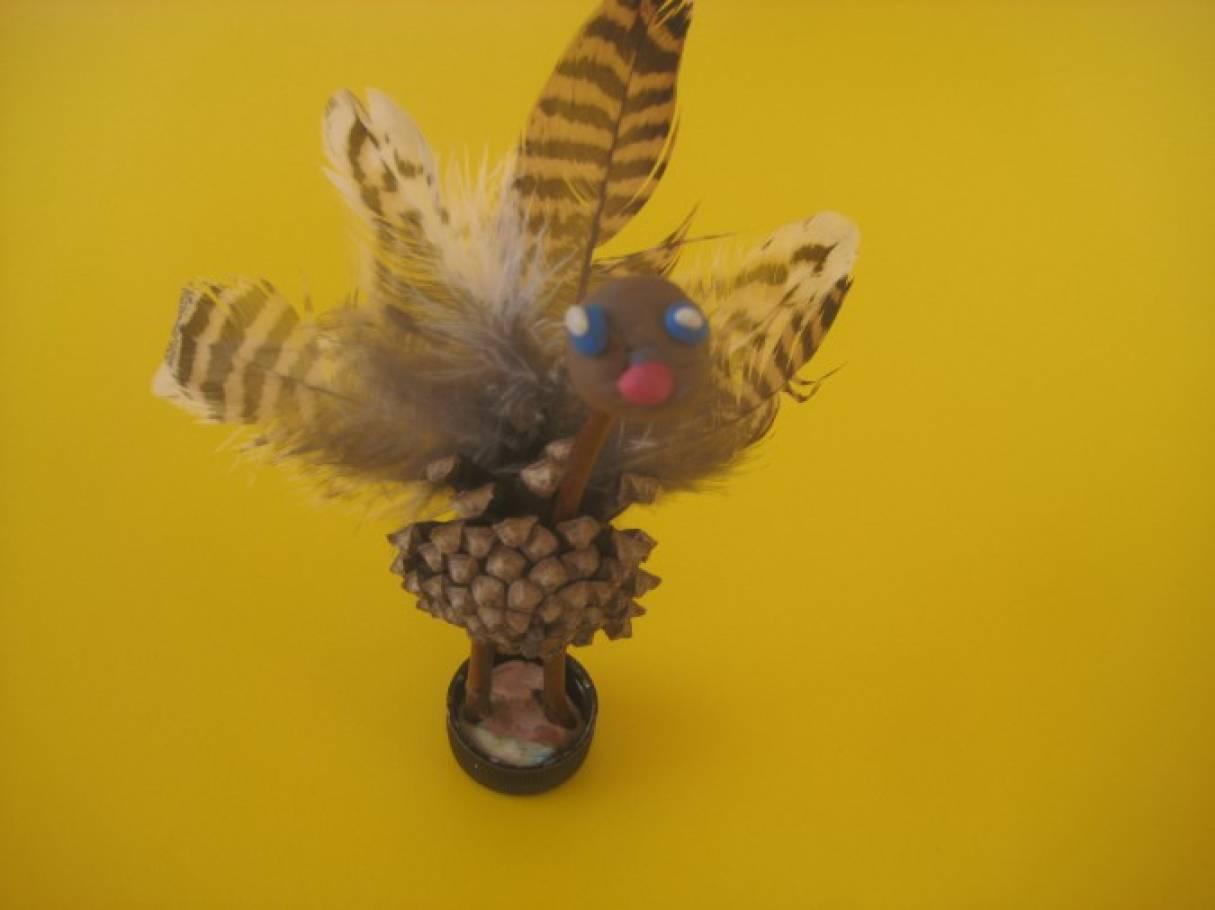 Птица из природного материала своими руками 85