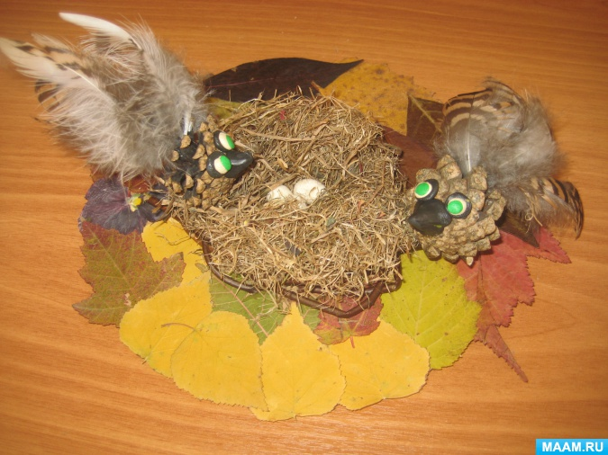 Мастер-класс «Гнездо с птицами»