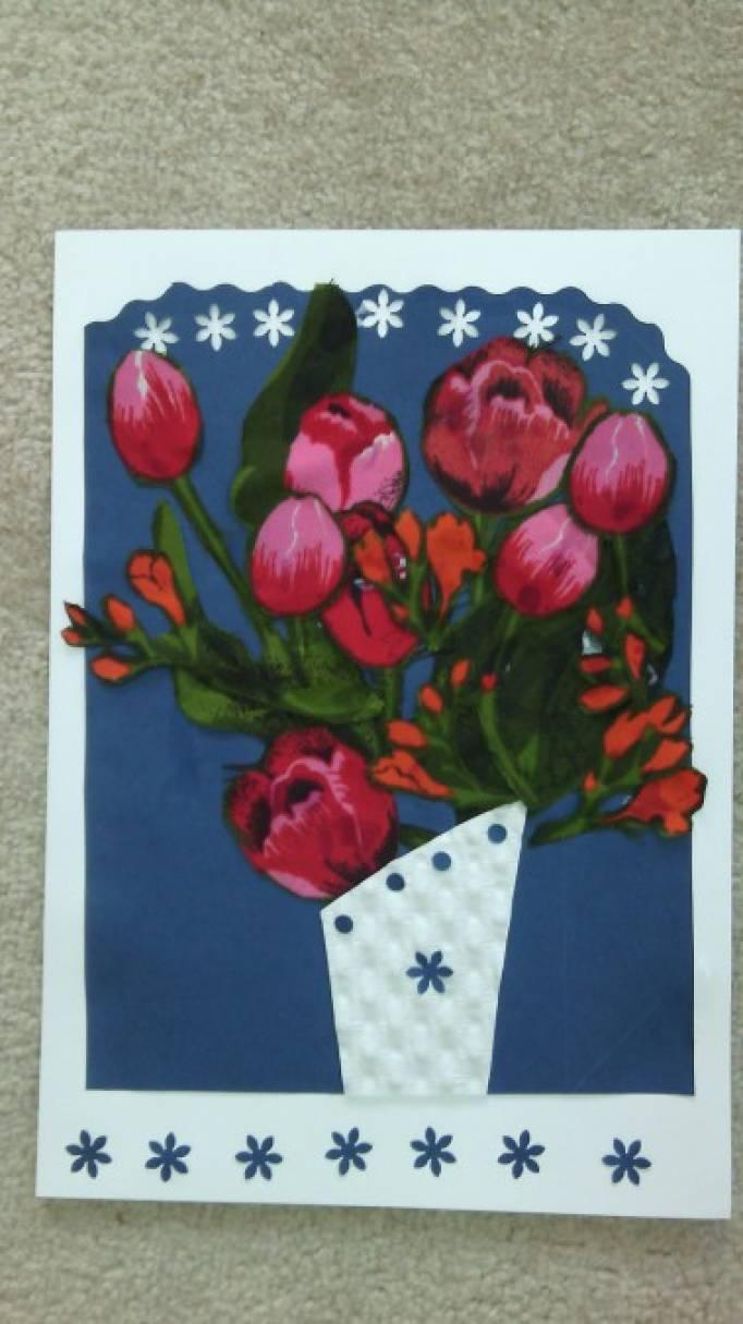 Мастер-класс по изготовлению цветочной аппликации-открытки