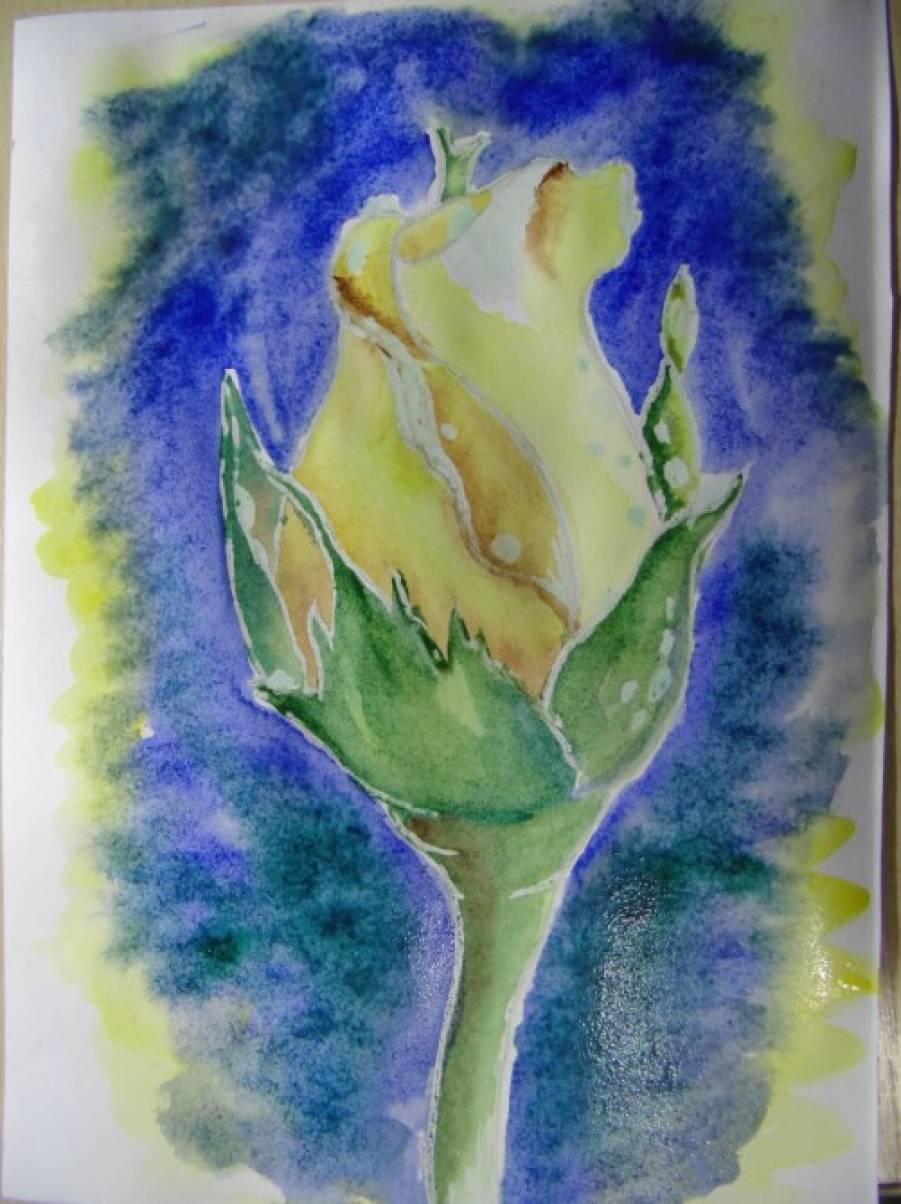 Бумажная роза большая 145