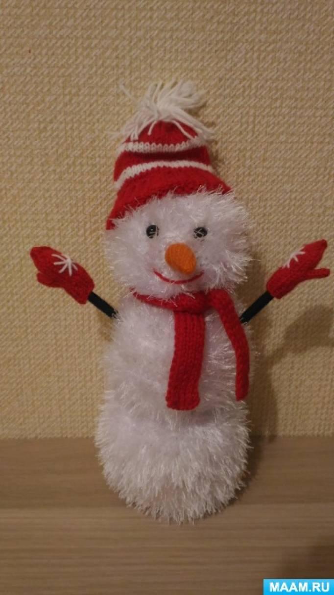 Мастер-класс по вязанию крючком «Белоснежный снеговик»