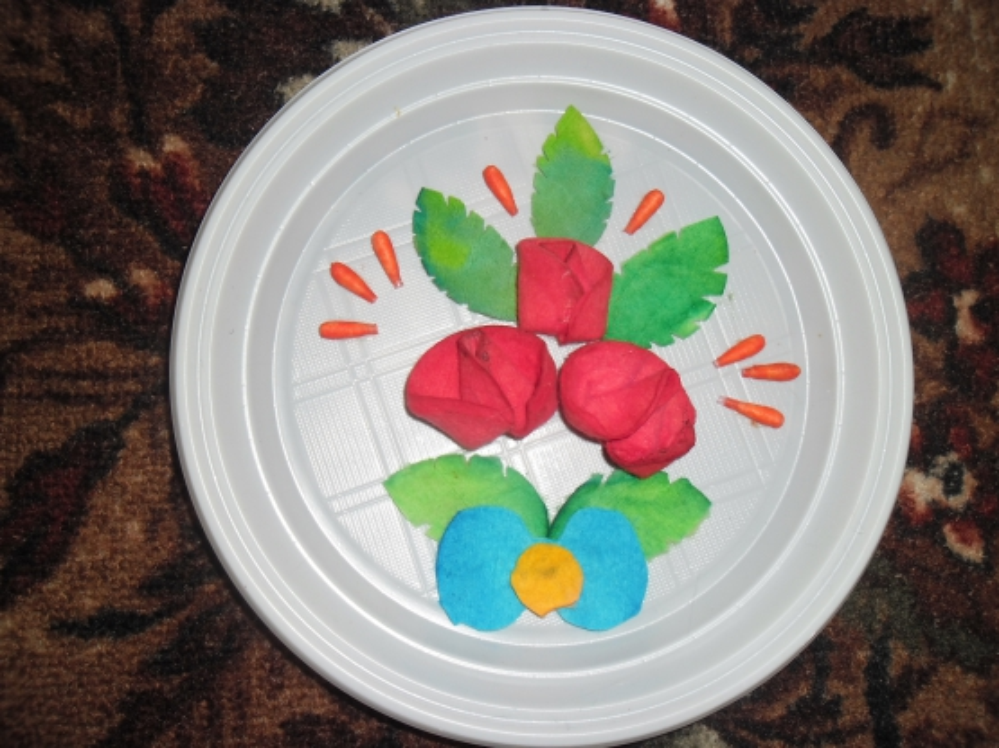 Открытки своими руками на тарелке