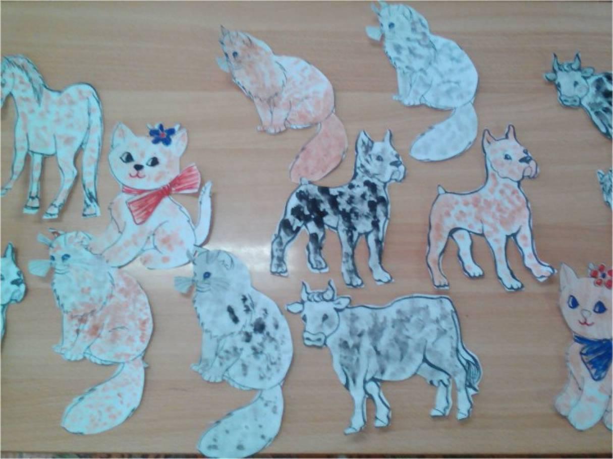 План конспект занятия по рисованию тема домашние животные