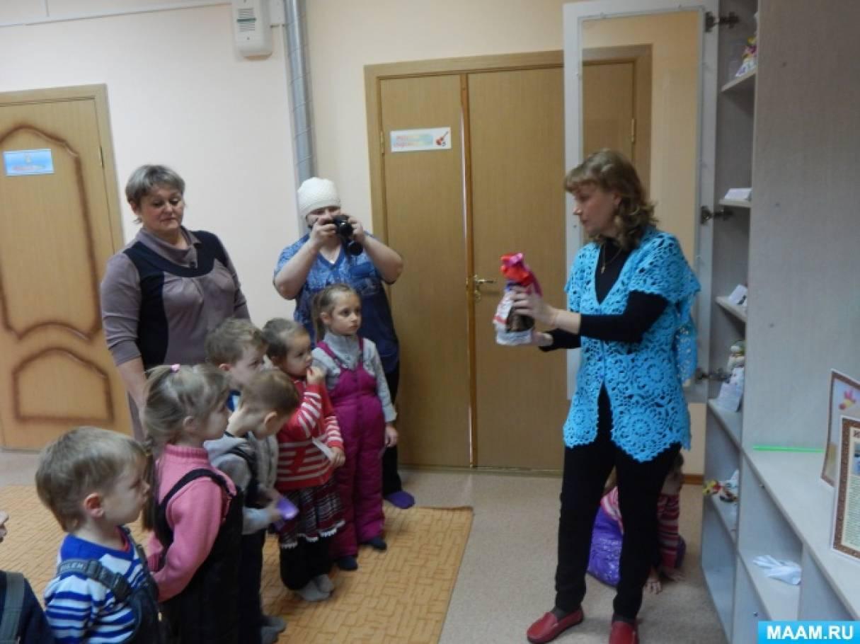 знакомство с русской народной игрушкой матрешка
