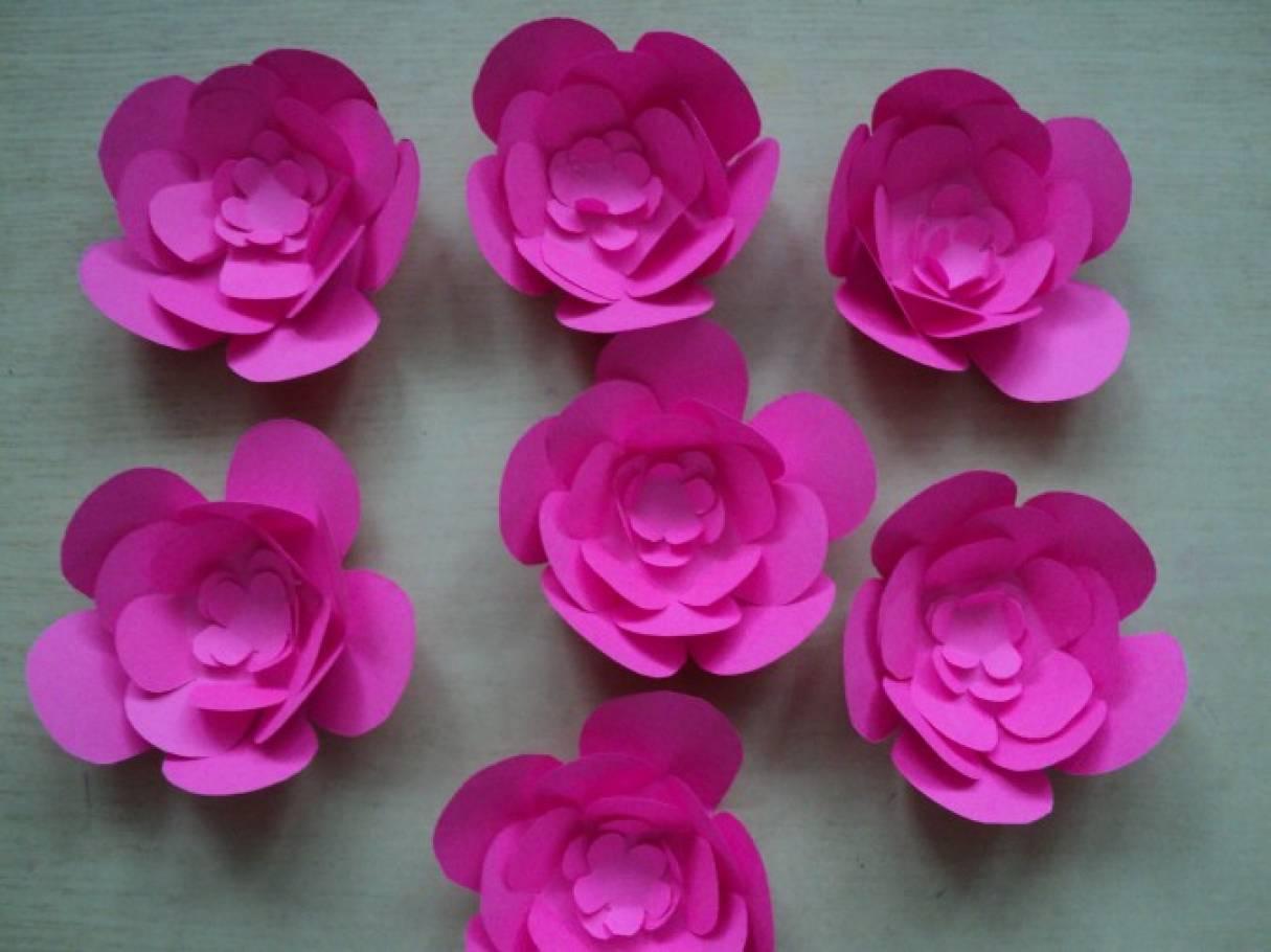 Объемные листья для цветов из бумаги 84