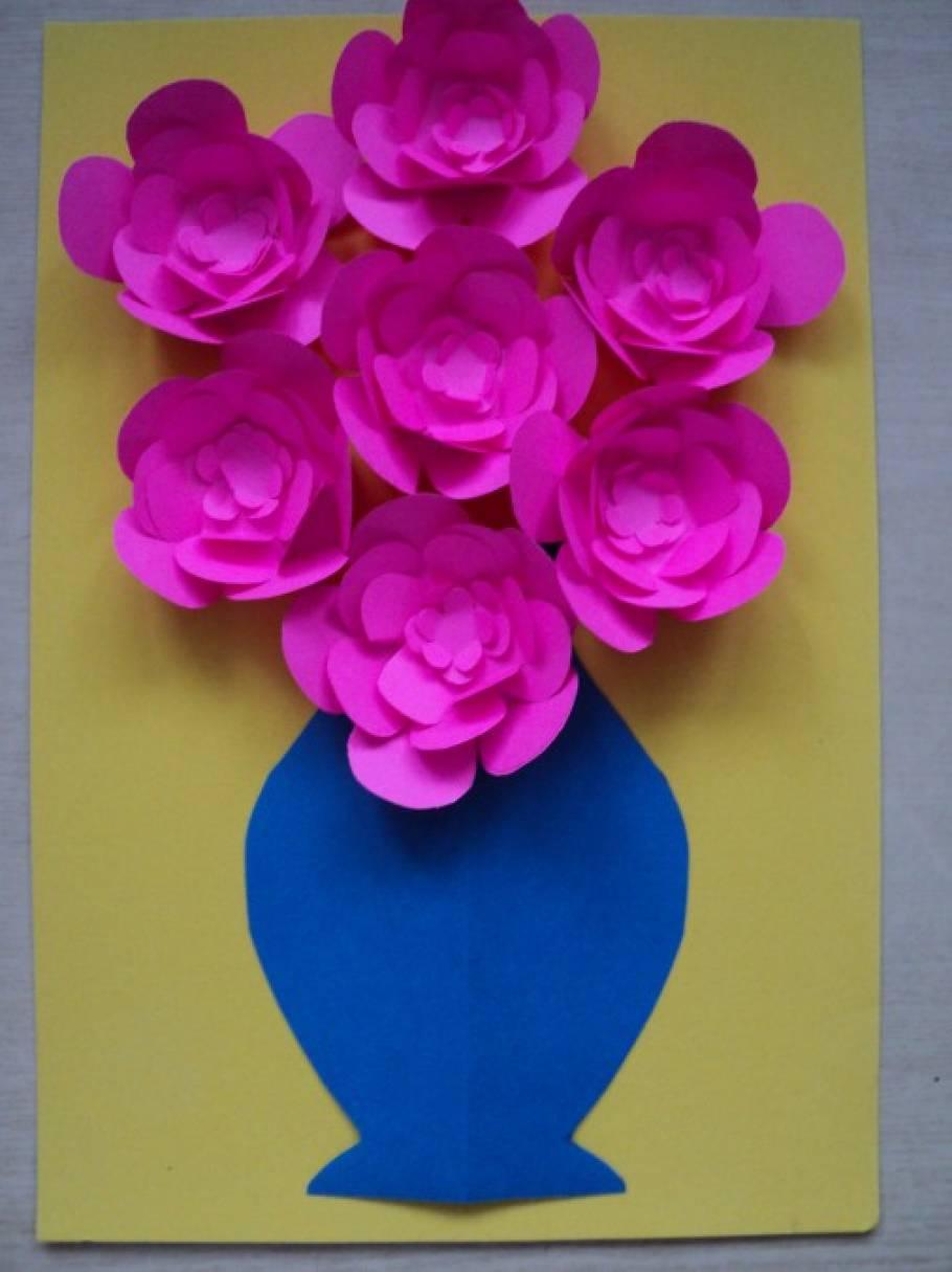 Из бумаги как сделать вазу с цветами