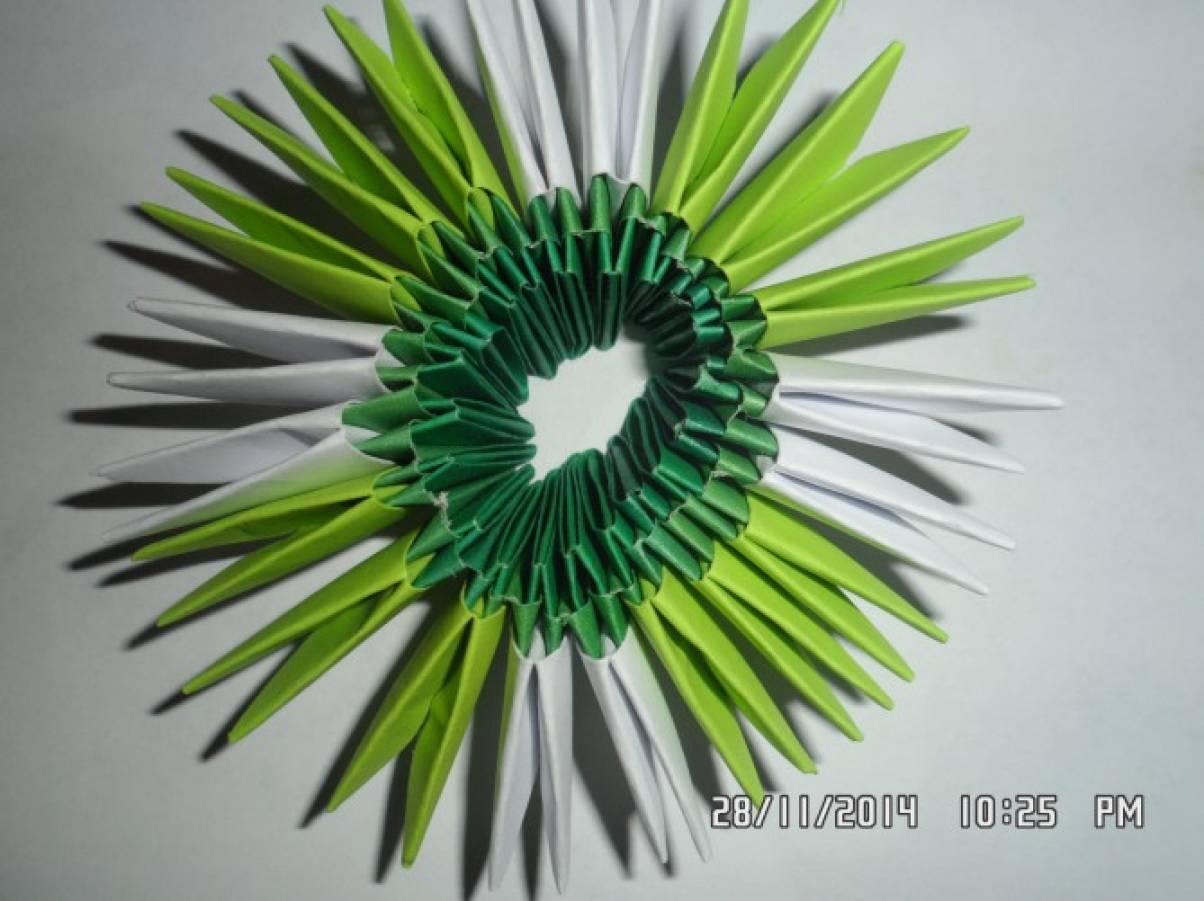 Ваза для ромашек оригами