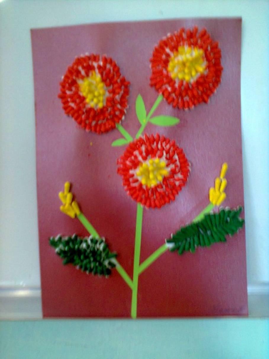 Цветы из ватных палочек своими руками фото 756