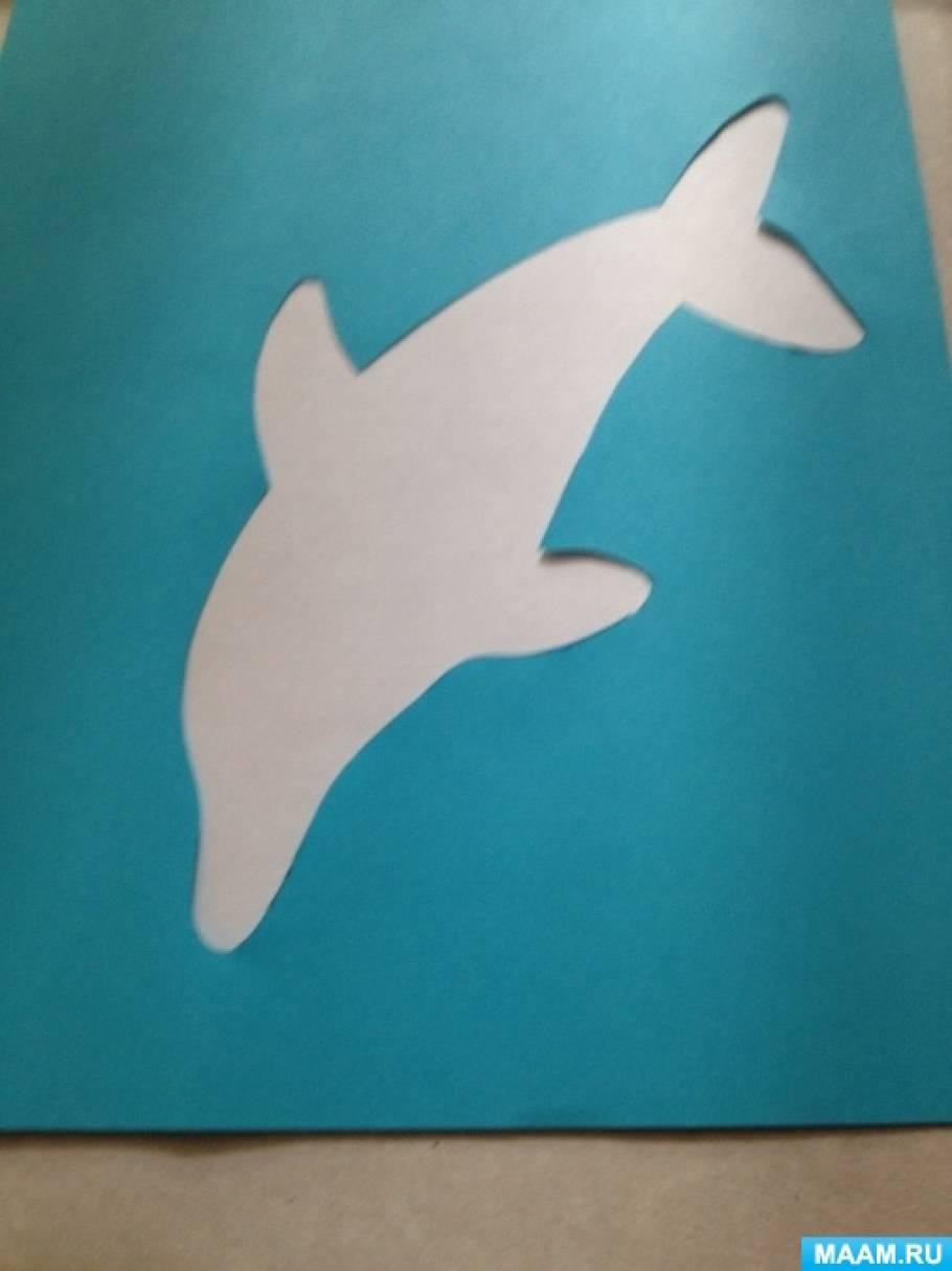 Медвежонок, открытки с дельфинами своими руками