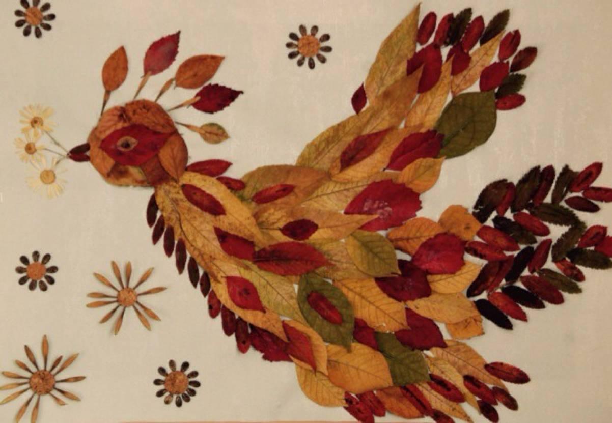 Жар-птица своими руками из природных материалов 686