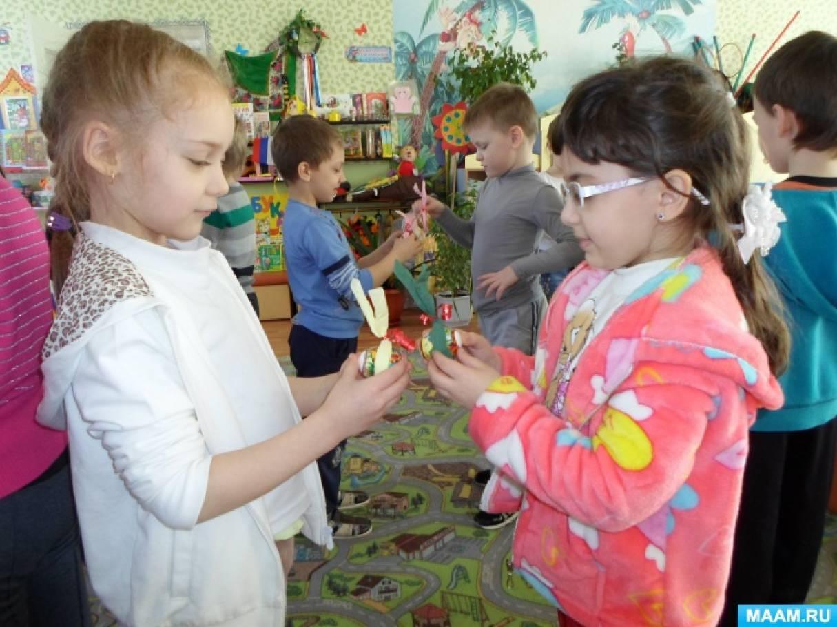 Мастер-класс «Пасхальный сувенир» для детей подготовительной к школе группы
