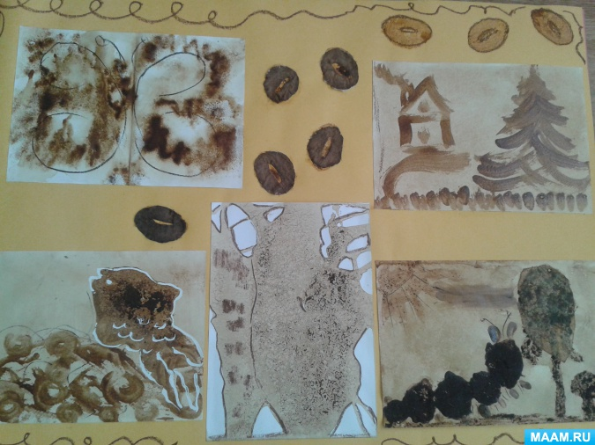 Мастер-класс для детей 5–7 лет «Ароматный мир кофейного рисования» в технике кофейной живописи