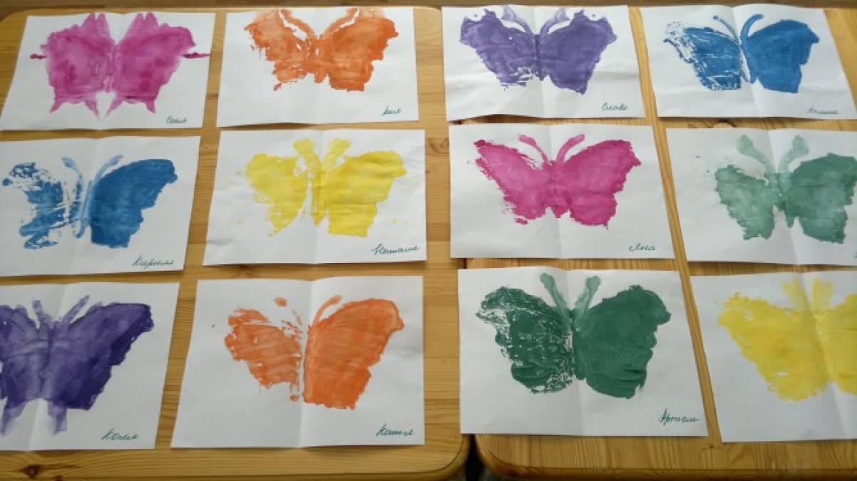Рисуем бабочку в старшей группе