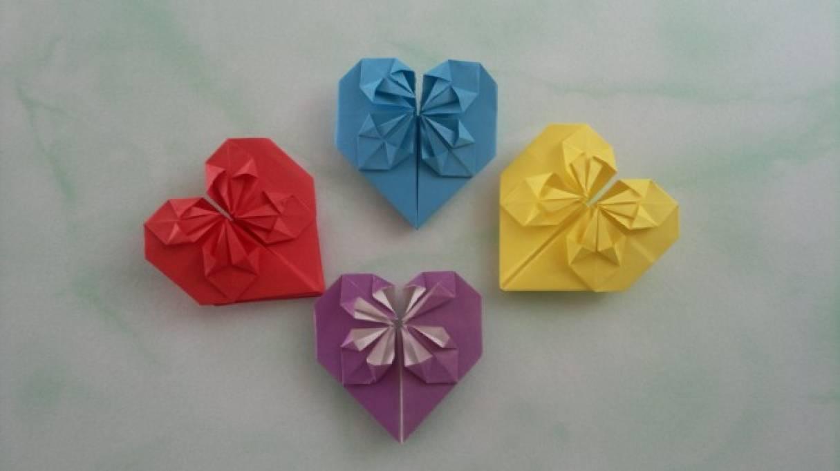 Мастер-класс по оригами «Сердечко с цветком»