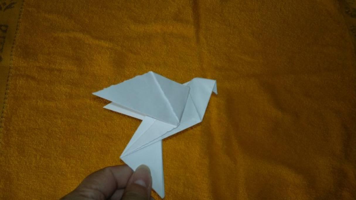 Мастер-класс в технике оригами «Голубь мира»