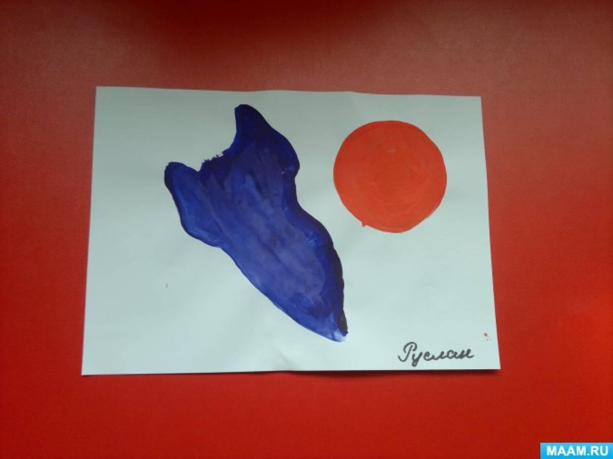 Фотоотчет «Дошколята рисуют космос»