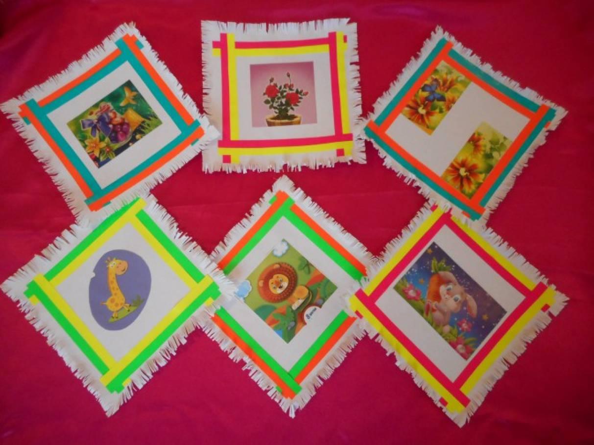 Аппликация из цветной бумаги «Платочек— подарок для бабушки и дедушки»