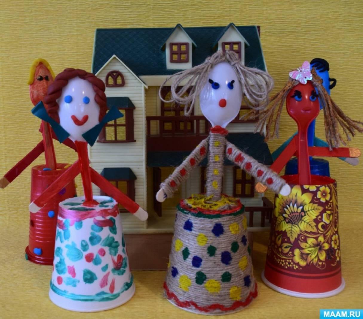«Кукляшки-милашки». Куколки из палочек для мороженого и одноразовых стаканчиков. Мастер-класс
