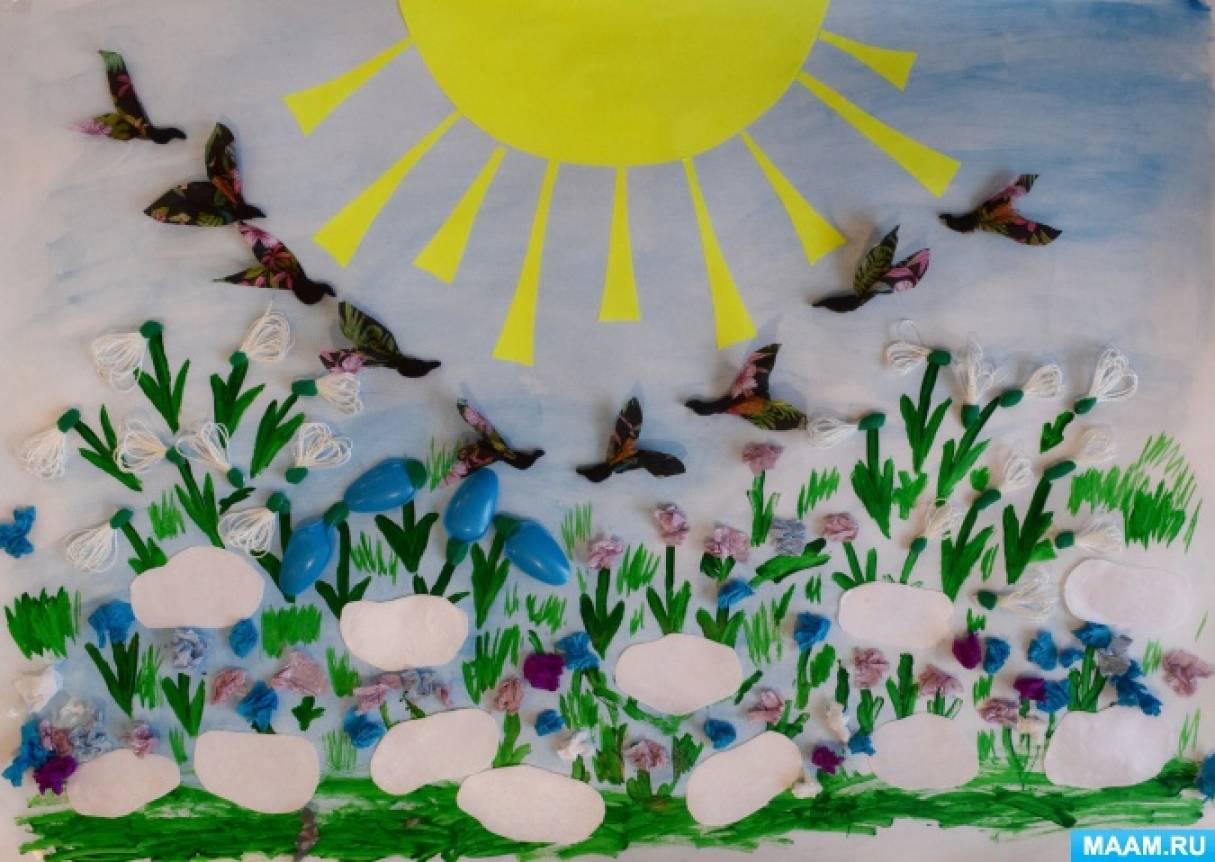 День подснежника. Коллаж «Подснежник— первый весенний цветок». Мастер-класс