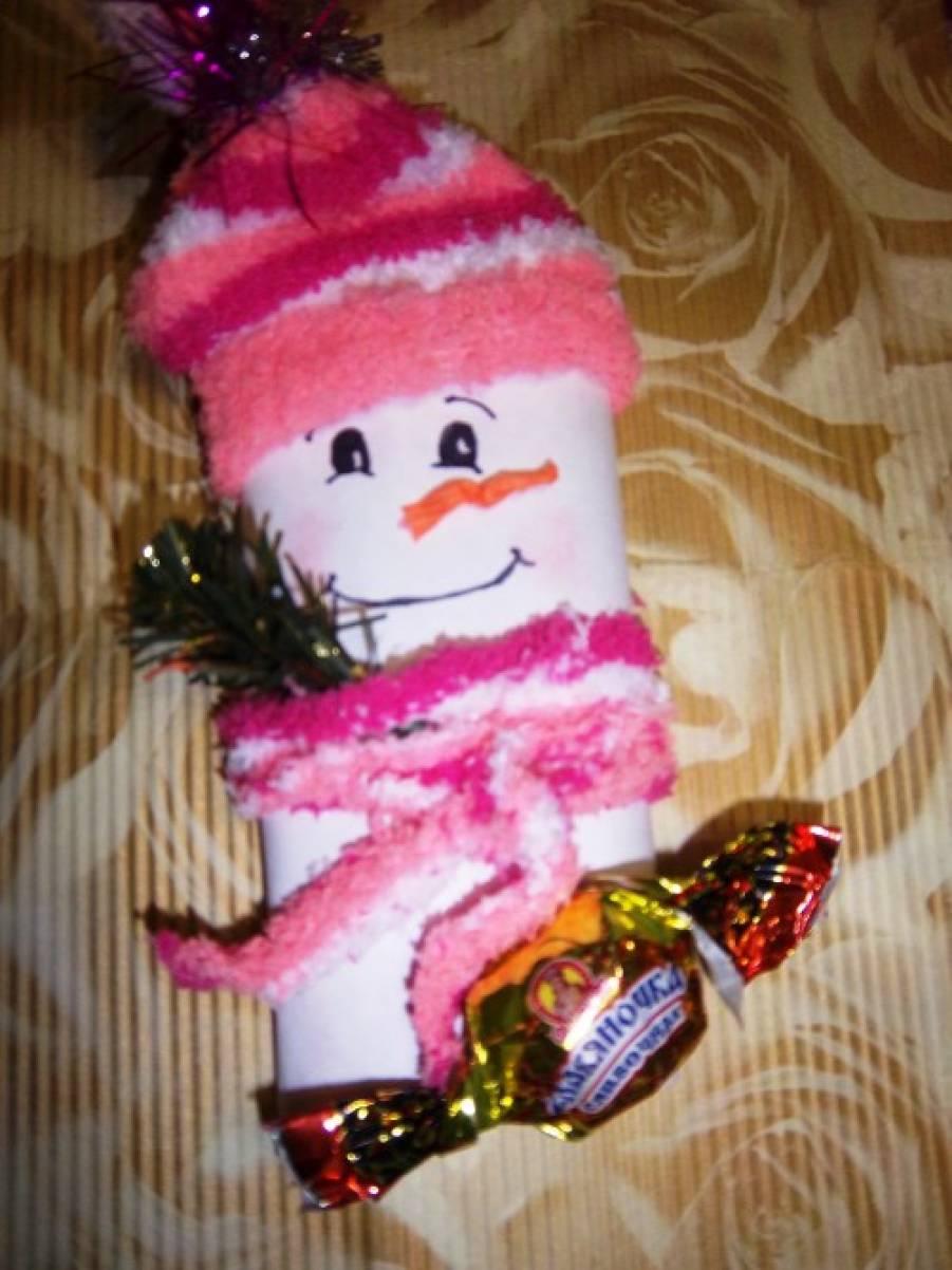Мастер-класс «Сладкий снеговик»
