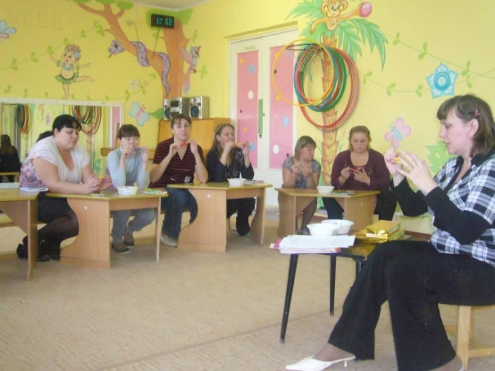 Мастер-класс с воспитателями по развитию речи