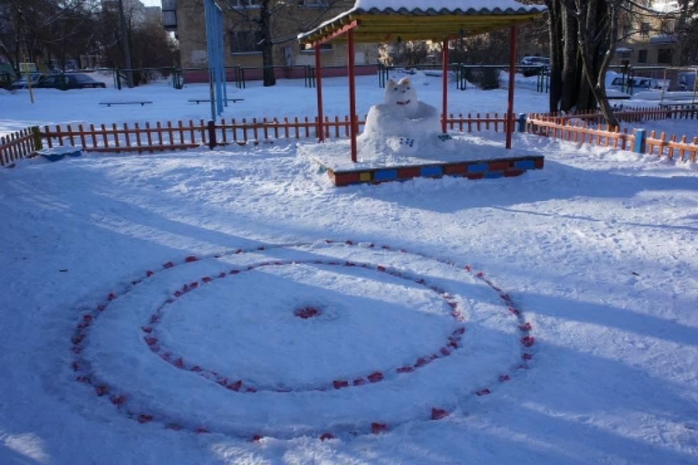 Как украсить участок в доу зимой картинки
