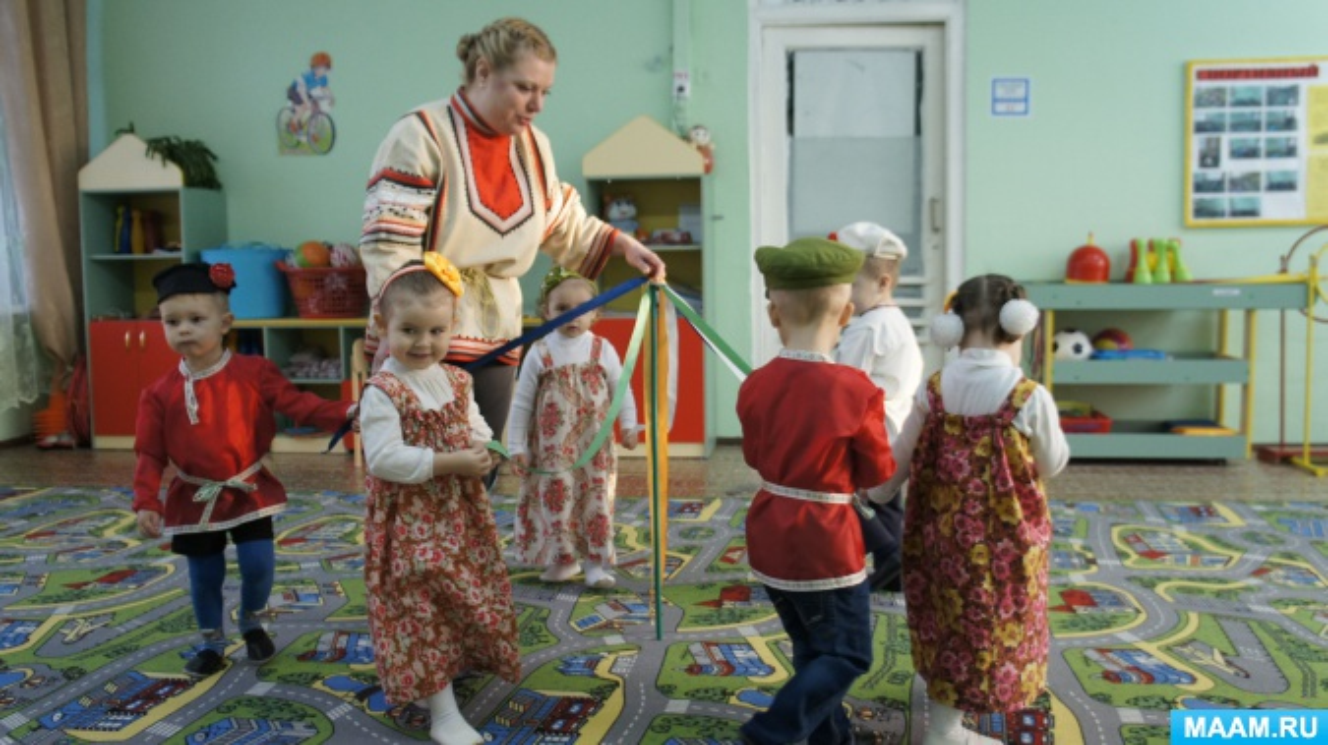 знакомство с русскими традициями в детском саду